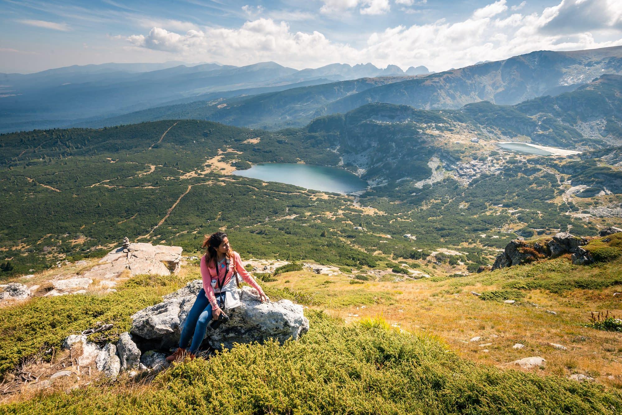 Lucille atop Rila Mountains