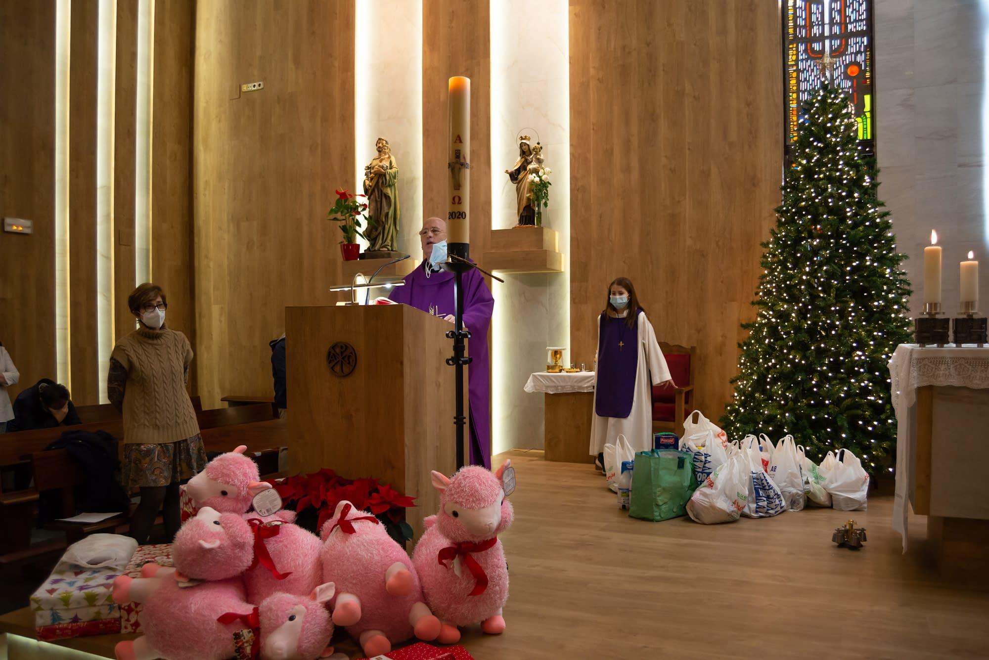 Pink Llamas at mass